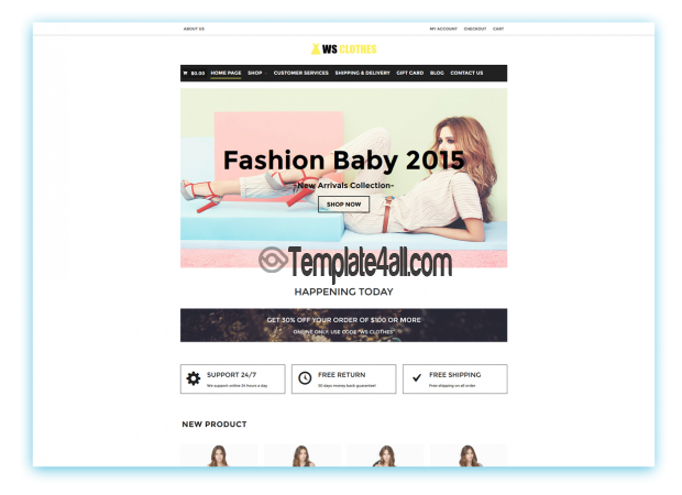 WS Responsive Clothes Woocommerce Theme