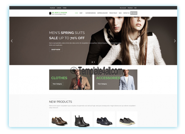 WS MEN Fashion Woocommerce Theme Download