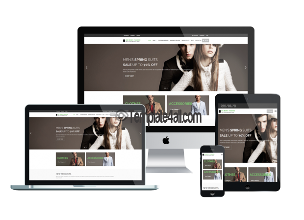 Responsive WS MEN Fashion Woocommerce Theme Download