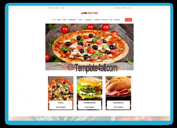 WS Free Responsive WordPress Fast Food Theme