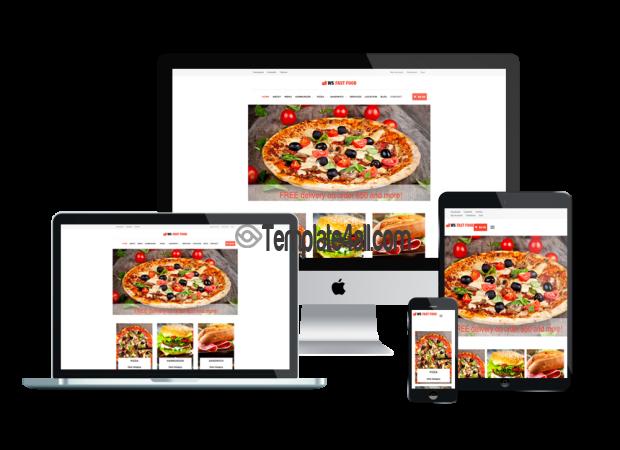 Free Responsive WordPress Fast Food Theme
