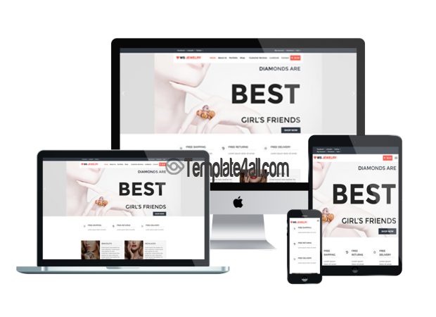 Responsive Diamond Free Responsive Jewelry Wordpress Theme