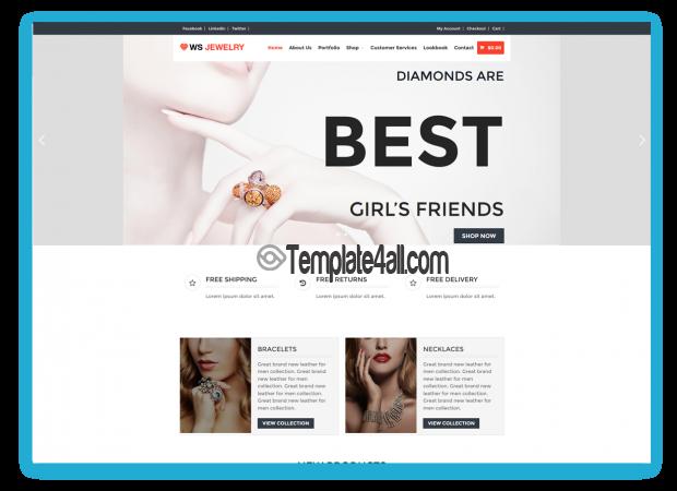 WS Diamond Free Responsive Jewelry Wordpress Theme