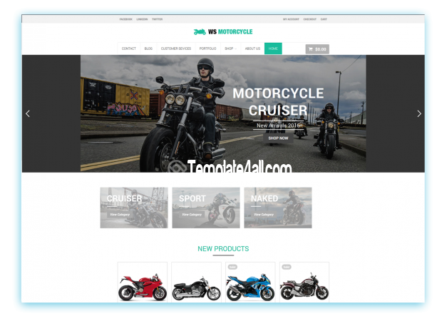 Motorcycle Free Responsive Motorbike Wordpress Theme