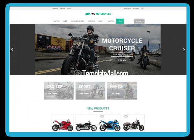 WS Free Responsive Motorbike Wordpress Theme