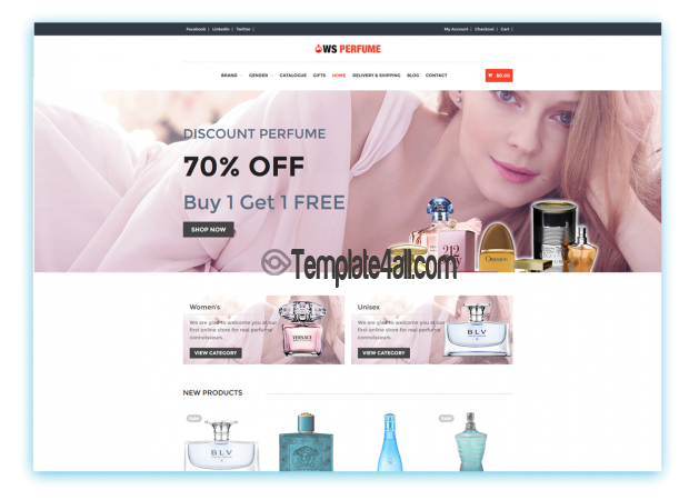 WS Free Woocommerce Perfume Wordpress Theme