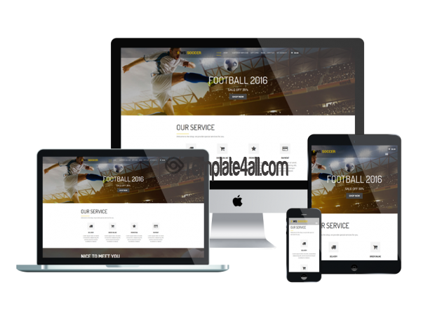 Responsive WS Soccer Free Responsive Sport Wordpress Theme