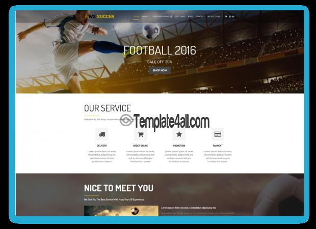 WS Soccer Free Responsive Sport Wordpress Theme