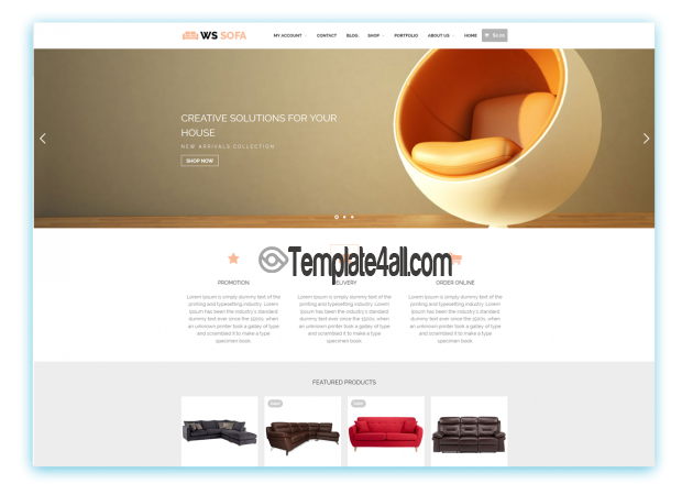 Responsive Sofa Store Wordpress Theme