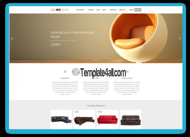 WS WooCommerce Free Responsive Sofa Store Wordpress Theme