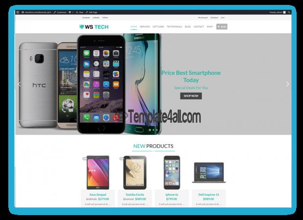 Free Responsive Tech Store Wordpress Theme