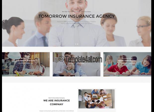 NT Genisu Insurance Company Wordpress Theme