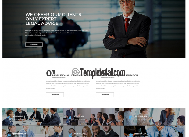 Free Responsive Law Firm Wordpress Theme