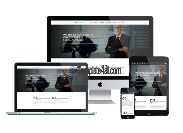 Responsive Free Responsive Law Firm Wordpress Theme