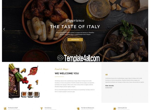 Restaurant Bar Coffee Wordpress Theme