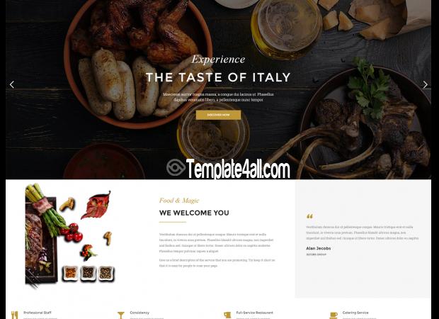 NT Resbaco Free Restaurant Bar Coffee Wordpress Theme
