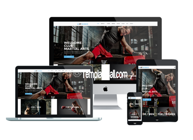 Responsive NT Kickboxing Body Building WordPress Theme