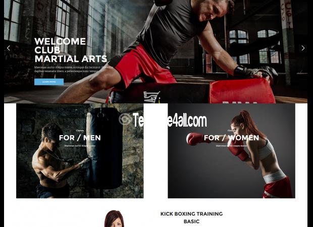 NT Kickboxing Body Building WordPress Theme