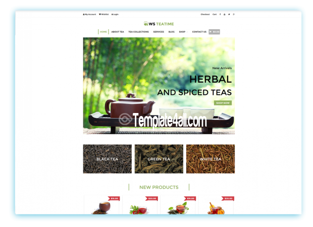 WS Free Responsive Tea Shop Wordpress Theme