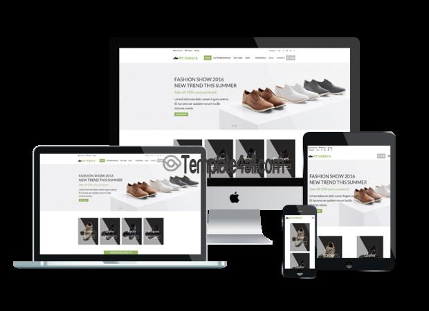 Responsive WooCommerce WS SOBAFA Shoes Wordpress Theme