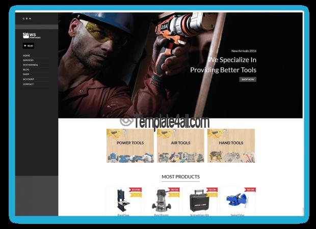 WS Free Responsive Tools Equipment Wordpress Theme