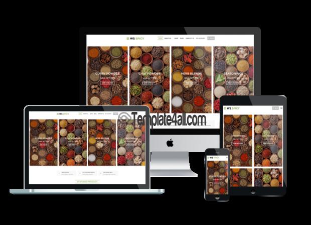 Responsive Spices Store Wordpress Theme