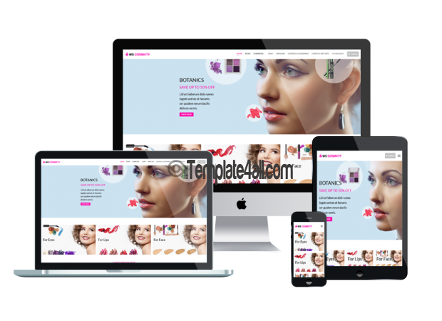Responsive Cosmetics Wordpress Theme