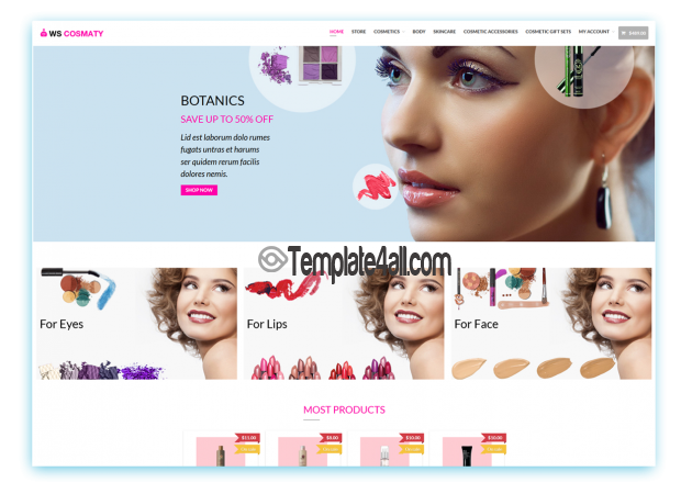 Free Cosmetics Wordpress Theme Download