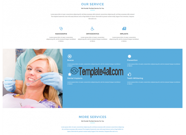 Free Premium Medical Dental WordPress Theme
