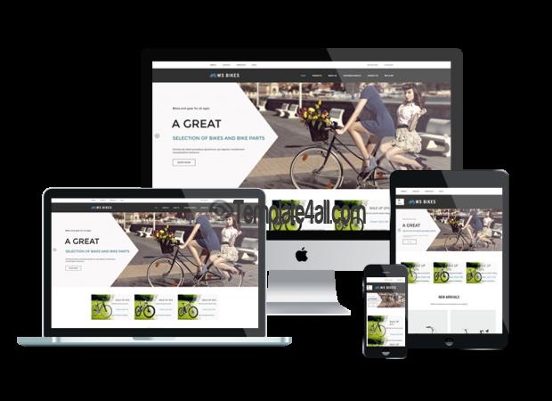 Responsive Bikes Shop WordPress Theme