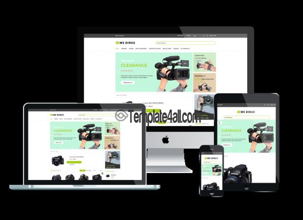 Responsive Digital Cameras Store WordPress Theme
