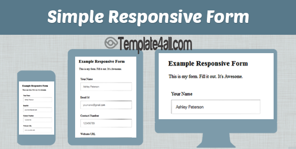 How To Make Responsive Contact Form