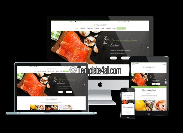 WS Responsive Sushi Restaurant WordPress Theme